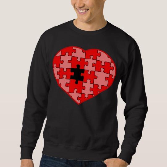 Heart Puzzle Missing a Piece Men's Basic Sweatshirt