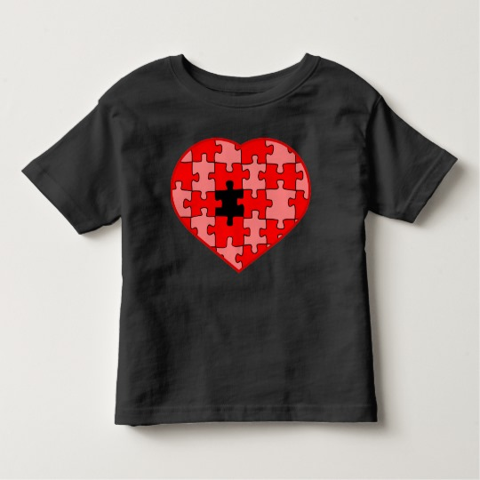 Heart Puzzle Missing a Piece Toddler Fine Jersey T-Shirt