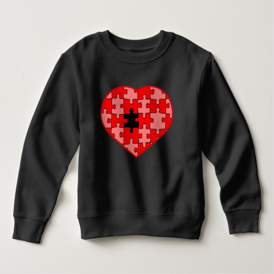 Heart Puzzle Missing a Piece Toddler Fleece Sweatshirt