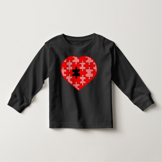 Heart Puzzle Missing a Piece Toddler Long Sleeve T-Shirt
