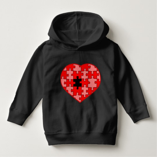 Heart Puzzle Missing a Piece Toddler Pullover Hoodie