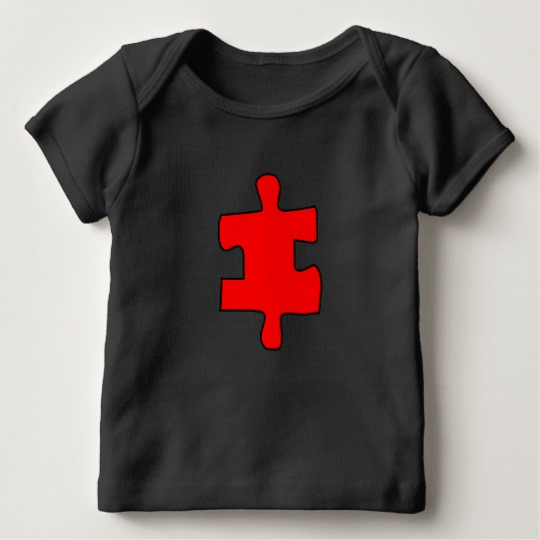 Red Missing Jigsaw Piece Baby American Apparel Lap T-Shirt