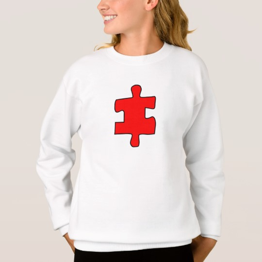 Red Missing Jigsaw Piece Girls' Hanes ComfortBlend® Sweatshirt