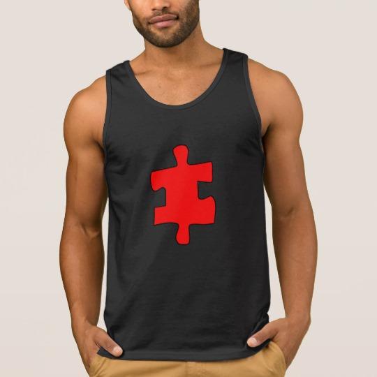 Red Missing Jigsaw Piece Men's Ultra Cotton Tank Top