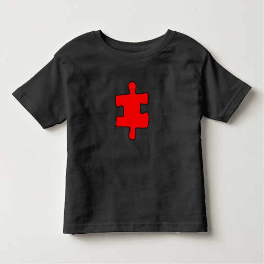 Red Missing Jigsaw Piece Toddler Fine Jersey T-Shirt