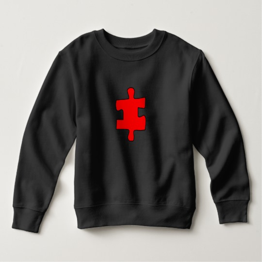 Red Missing Jigsaw Piece Toddler Fleece Sweatshirt