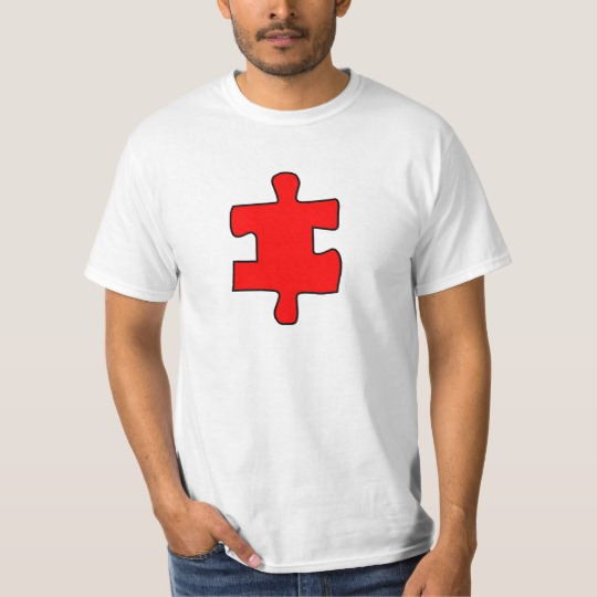 Red Missing Jigsaw Piece Value T-Shirt