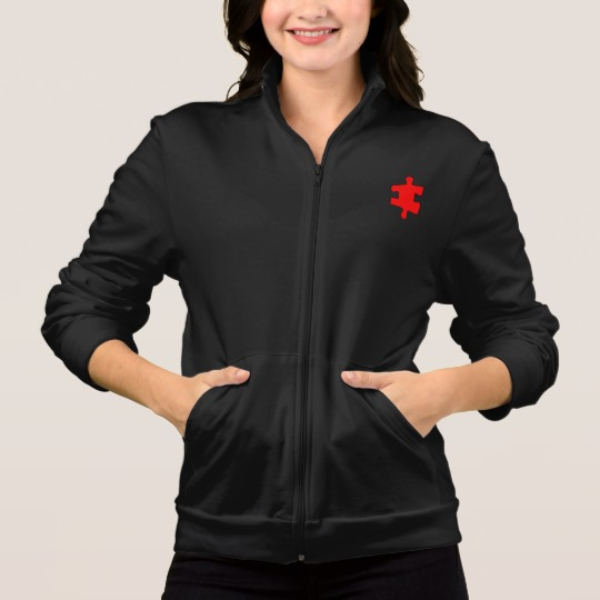 Red Missing Jigsaw Piece Women's American Apparel California Fleece Zip Jogger