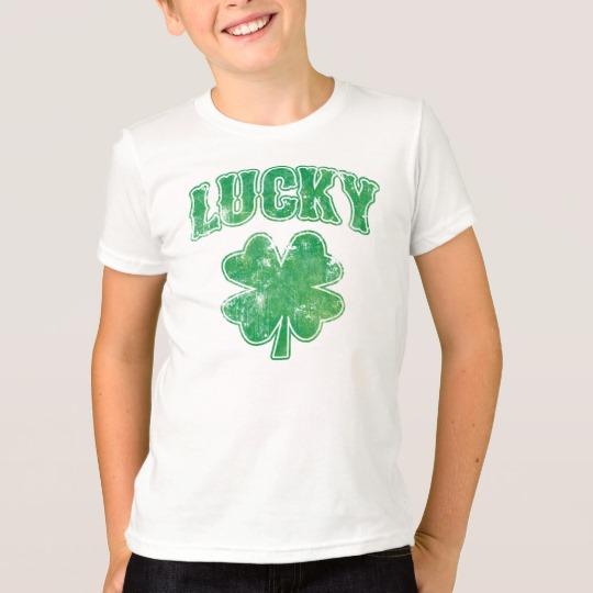 Lucky 4 Leaf Clover Kids' American Apparel Fine Jersey T-Shirt