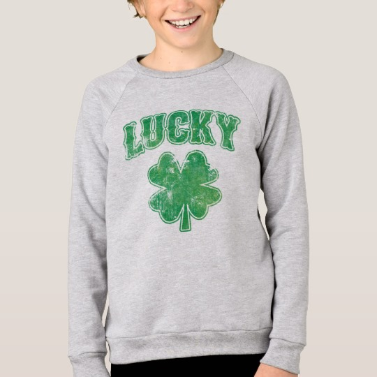 Lucky 4 Leaf Clover Kids' American Apparel Raglan Sweatshirt