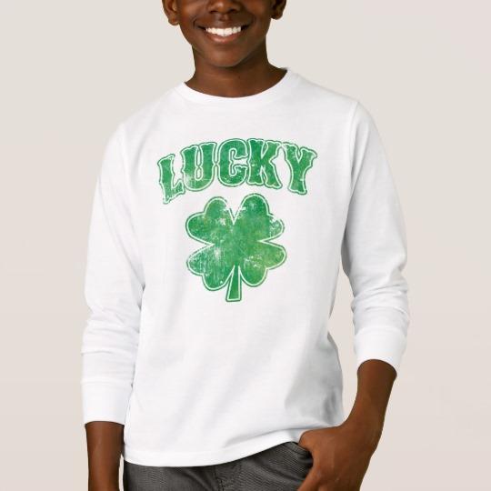 Lucky 4 Leaf Clover Kids' Basic Long Sleeve T-Shirt