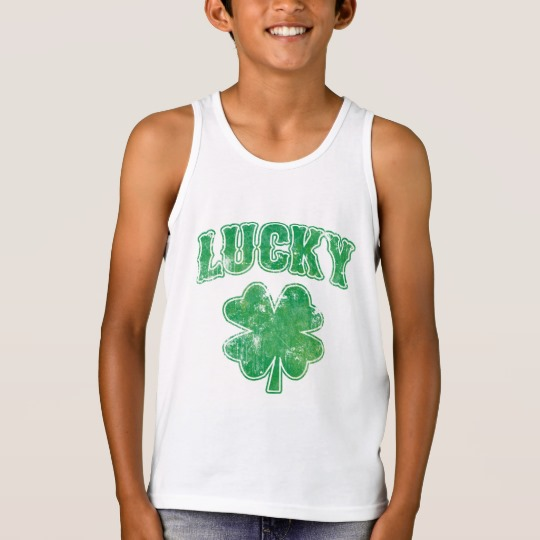 Lucky 4 Leaf Clover Kids' Bella+Canvas Jersey Tank Top