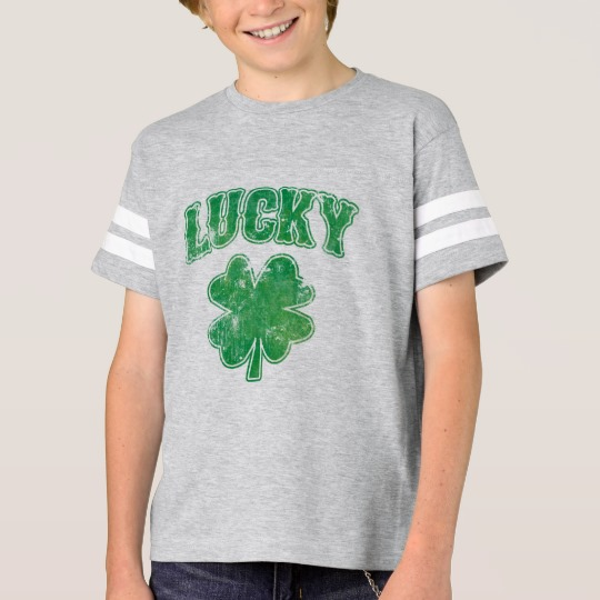 Lucky 4 Leaf Clover Kids' Football Shirt