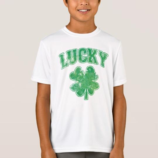 Lucky 4 Leaf Clover Kids' Sport-Tek Competitor T-Shirt