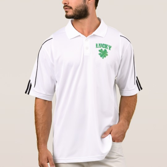Lucky 4 Leaf Clover Men's Adidas Golf  ClimaLite® Polo Shirt