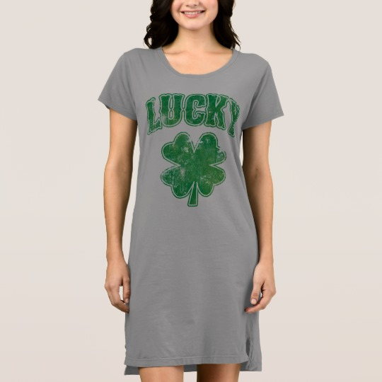 Lucky 4 Leaf Clover Women's Alternative Apparel T-Shirt Dress