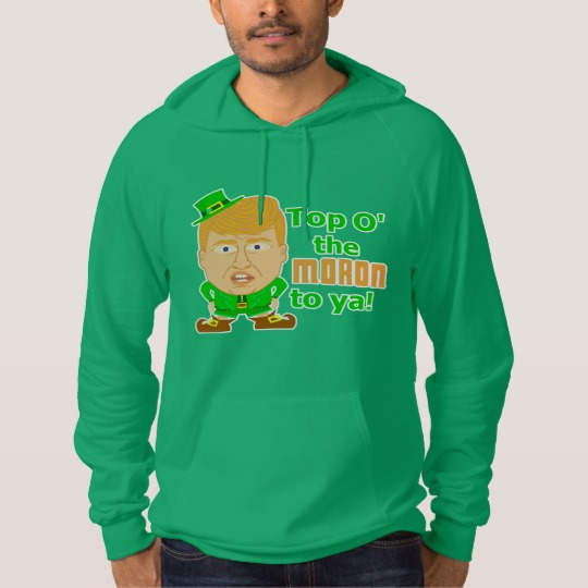 Top O the Moron to Ya American Apparel California Fleece Pullover Hoodie