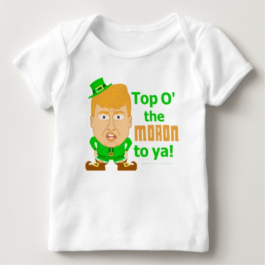 Top O the Moron to Ya Baby American Apparel Lap T-Shirt