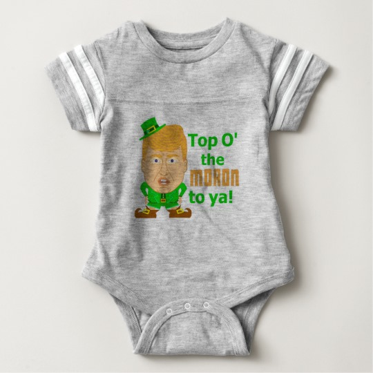 Top O the Moron to Ya Baby Football Bodysuit
