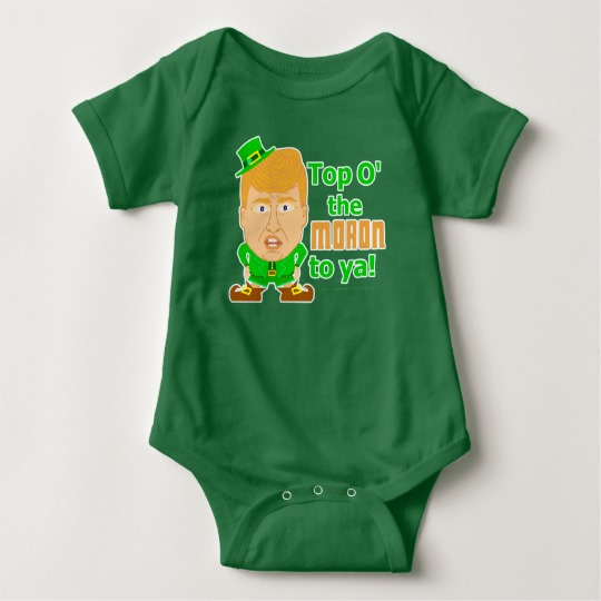 Top O the Moron to Ya Baby Jersey Bodysuit