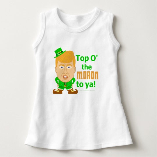 Top O the Moron to Ya Baby Sleeveless Dress