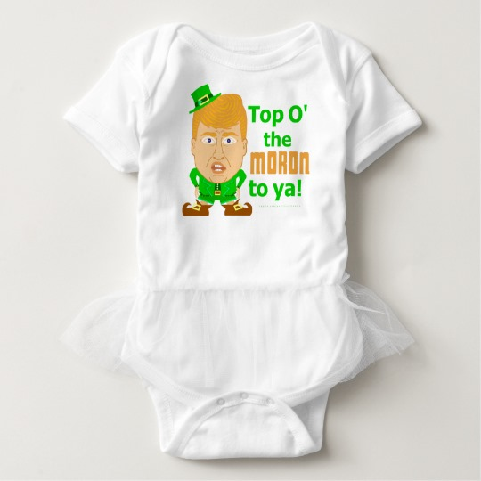 Top O the Moron to Ya Baby Tutu Bodysuit