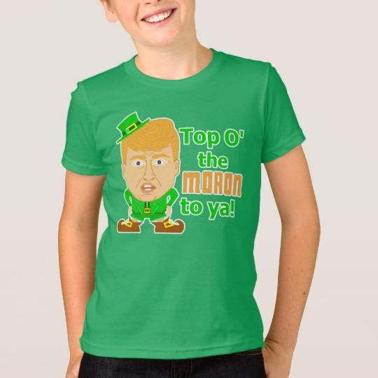 Top O the Moron to Ya Kids' American Apparel Fine Jersey T-Shirt