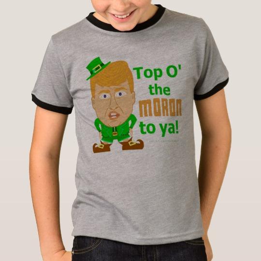 Top O the Moron to Ya Kids' Basic Ringer T-Shirt