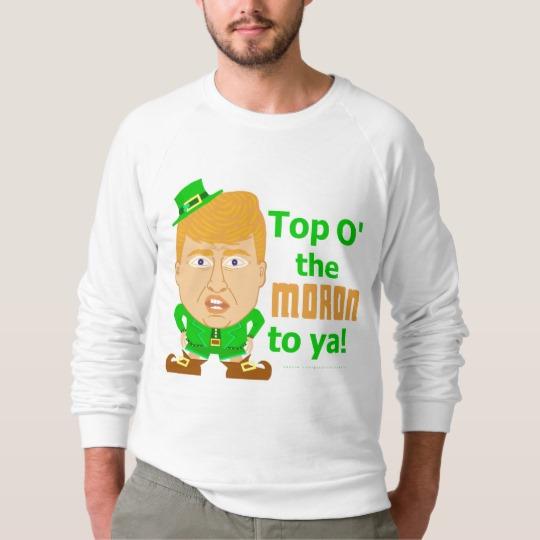Top O the Moron to Ya Men's American Apparel Raglan Sweatshirt