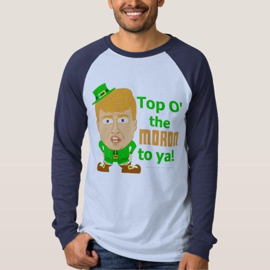 Top O the Moron to Ya Men's Canvas Long Sleeve Raglan T-Shirt