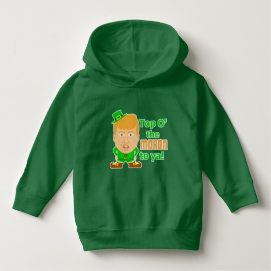Top O the Moron to Ya Toddler Pullover Hoodie