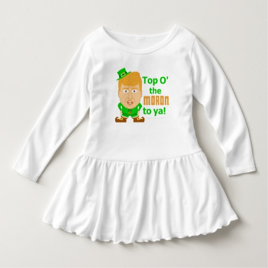 Top O the Moron to Ya Toddler Ruffle Dress
