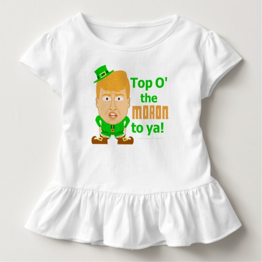 Top O the Moron to Ya Toddler Ruffle Tee