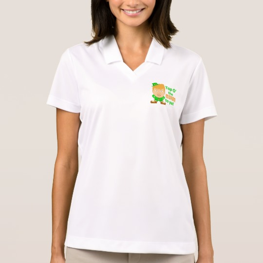 Top O the Moron to Ya Women's Nike Dri-FIT Pique Polo Shirt