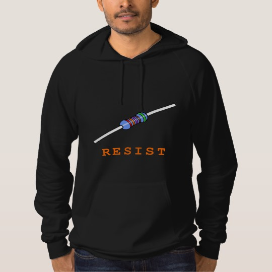 Resist with Resistor American Apparel California Fleece Pullover Hoodie