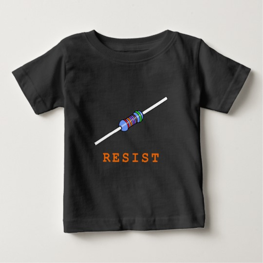 Resist with Resistor Baby Fine Jersey T-Shirt