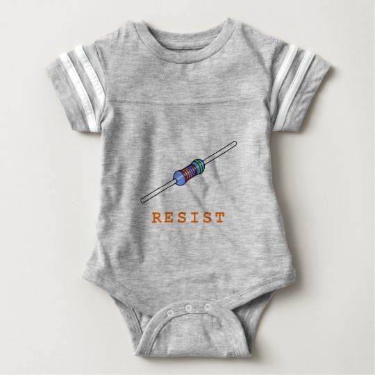 Resist with Resistor Baby Football Bodysuit