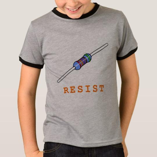 Resist with Resistor Kids' Basic Ringer T-Shirt