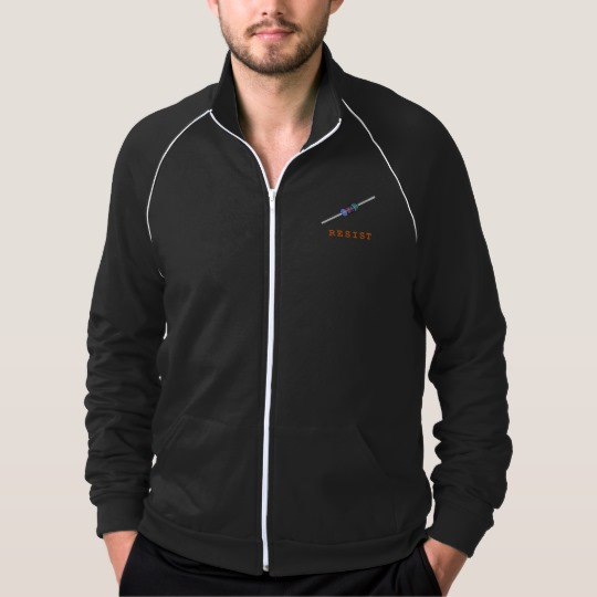 Resist with Resistor Men's American Apparel California Fleece Track Jacket