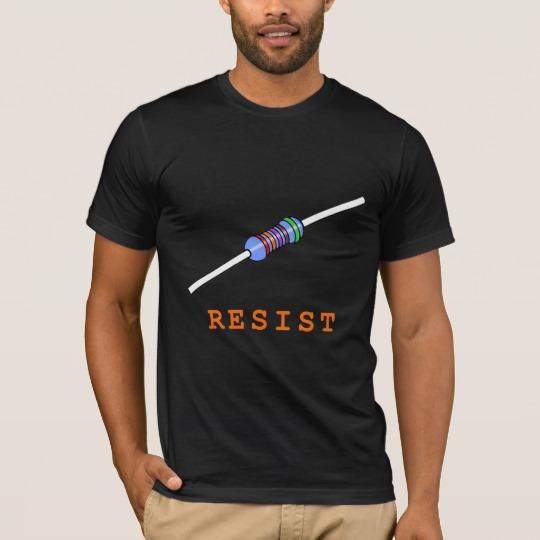 Resist with Resistor Men's Basic American Apparel T-Shirt