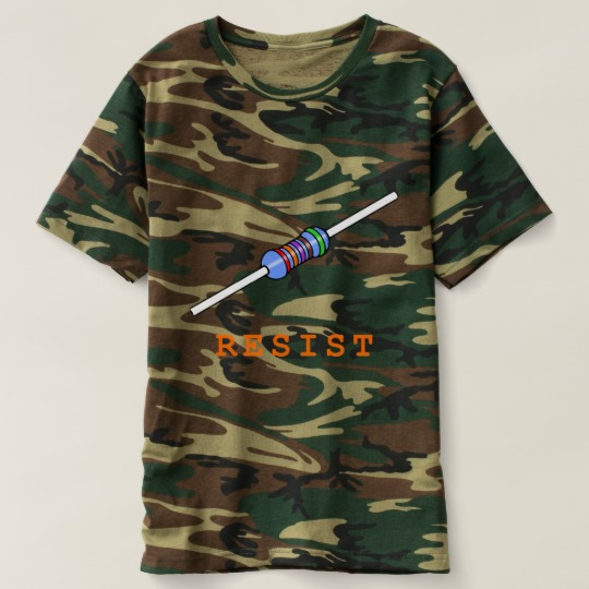 Resist with Resistor Men's Camouflage T-Shirt