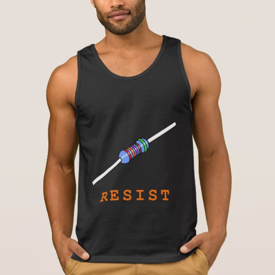 Resist with Resistor Men's Ultra Cotton Tank Top
