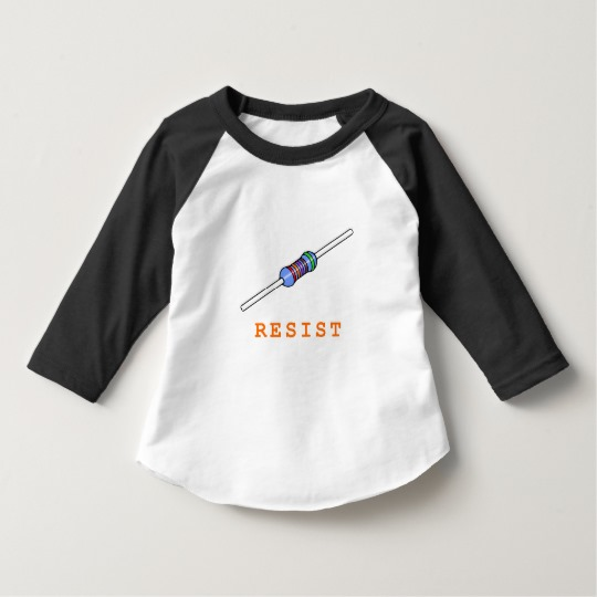 Resist with Resistor Toddler American Apparel 3/4 Sleeve Raglan T-Shirt