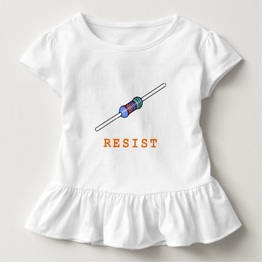 Resist with Resistor Toddler Ruffle Tee