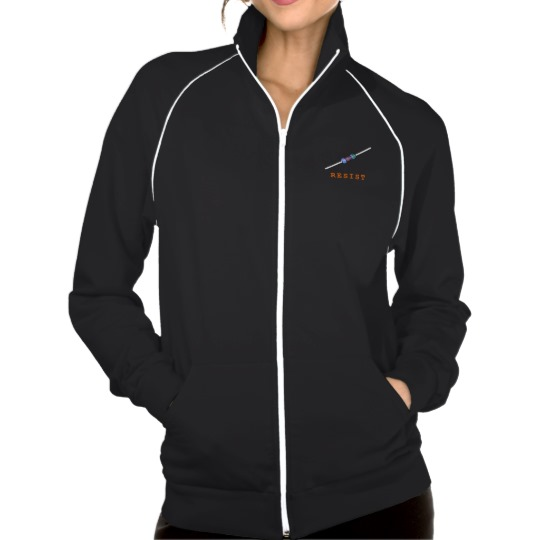 Resist with Resistor Women's American Apparel California Fleece Track Jacket