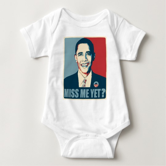 Obama Miss Me Yet? Baby Jersey Bodysuit