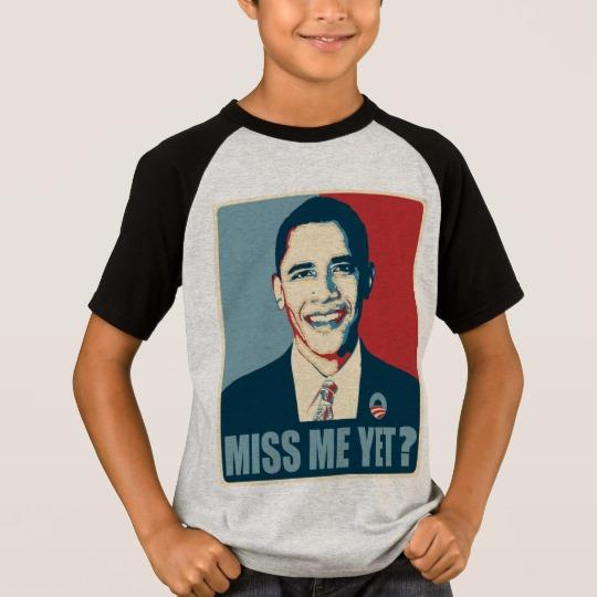 Obama Miss Me Yet? Kids' Short Sleeve Raglan T-Shirt