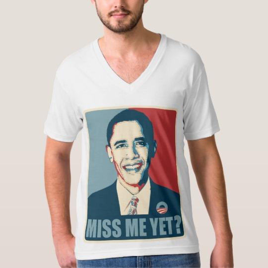 Obama Miss Me Yet? Men's American Apparel Fine Jersey V-neck T-Shirt