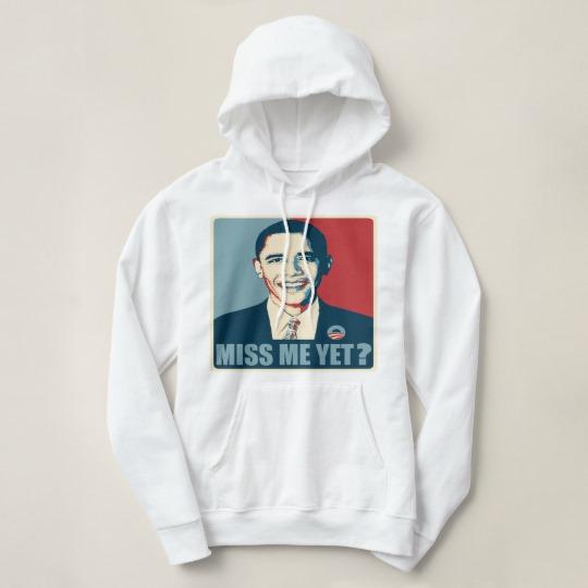 Obama Miss Me Yet? Women's Basic Hooded Sweatshirt