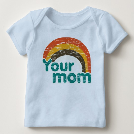 Your Mom Baby American Apparel Lap T-Shirt